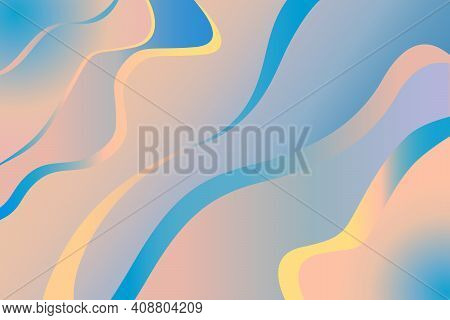 Abstract Background With Irregular Lines With Blue-cyan And Pink Gradient