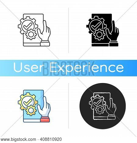 Usefulness Icon. Meeting Customer Needs. Particular Product Easy Usability. Delivering Product Attri