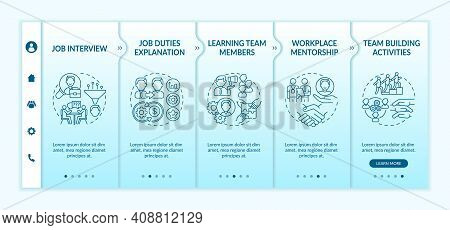 Success Of Career In Profession Onboarding Vector Template. Professional Formation And Development.