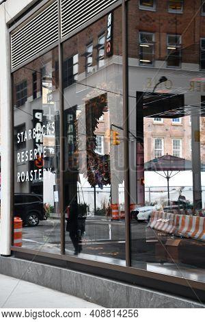 New York, Ny - Nov 27: Starbucks Reserve Roastery In New York City, As Seen On Nov 27, 2020.