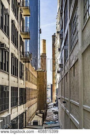 Street View To  Neighborhood Midtown In New York City, Usa