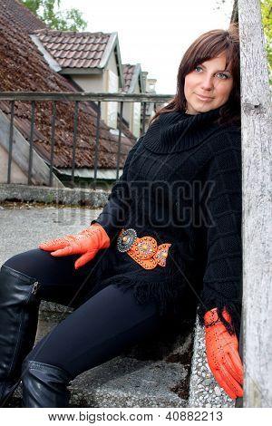Smiling Girl Sitting