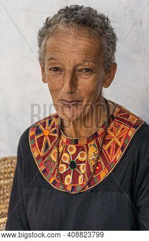 Anegundi, Karnataka, India - November 9, 2013: Lepakshi Handicrafts Non-profit. Portrait Of Michelle