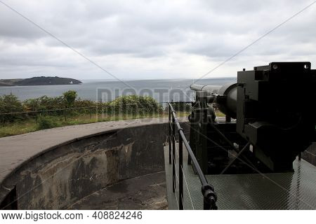 Falmouth (england), Uk - August 15, 2015: Fortification In Pendennis Castle, Falmouth, Cornwall, Eng