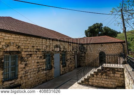 Old Buildings At Town Rosh Pina-a Settlement In Northern Israel, Upper Galilee District. Located On