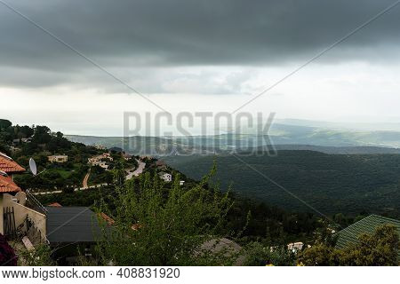 Panorama Of The Upper Galilee From The Tops Of The Hills Surrounding Lake Kinneret Or The Tiberias S