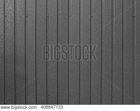 Corrugated Sheet Metal Background. Modern Technologies In Construction. Metal Tiles. Reliable, Moder