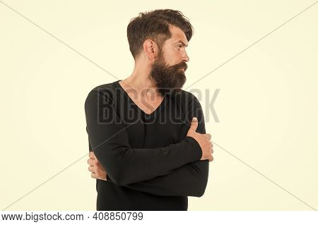 Hairdresser Salon. Individual Beard Styles. Unshaven Hipster. Fashion Concept. Maximum Length You Ca