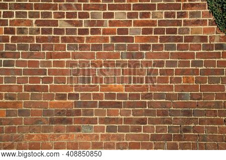 Old Red Brick Wall Texture Background, Texture. Distressed Grungy Wall Surface Brickwall. Shabby Bui
