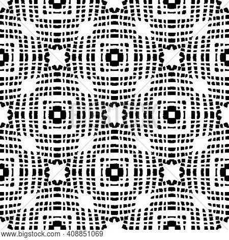 Abstract Grometric Op-art Seamless Vector Pattern. Graphic Surface Print Design For Fabrics, Station