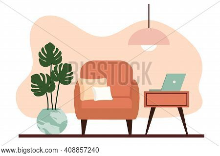 Stylish Apartment Interiors In Scandinavian Style With Modern Decor. Cozy Furnished Living Room. Car