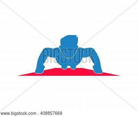 Push Up Icon Logo Vector Illustration Design
