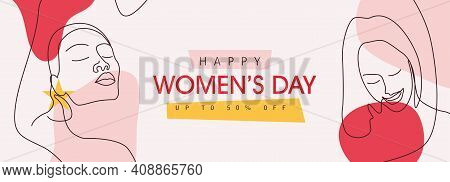 International Women's Day Greeting Card Template.
