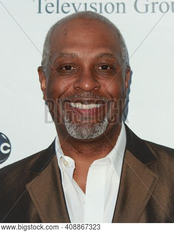LOS ANGELES - AUG 08: James Pickens Jr. arrives to the 2009 Disney-ABC Televison Group Summer Press Tour on August 08, 2009 in Pasadena, CA
