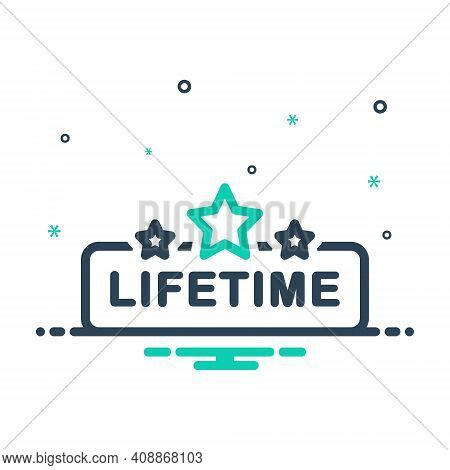 Mix Icon For Lifetime Tag Badge Label
