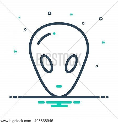 Mix Icon For Alien Foreigner Gringo Stranger Unknown