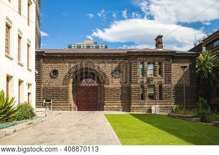 Old Melbourne Gaol Located In Melbourne, Victoria, Australia