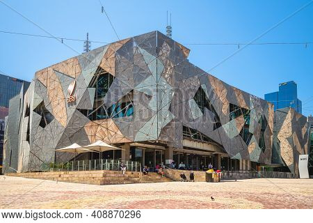 Anuary 1, 2019: Australian Centre For The Moving Image Located At Federation Square In Melbourne, Vi