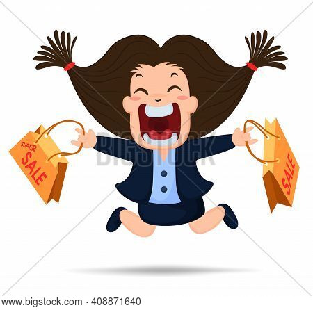 An Illustration Of A Woman Shouting And Amazed For The Super Sale Offers