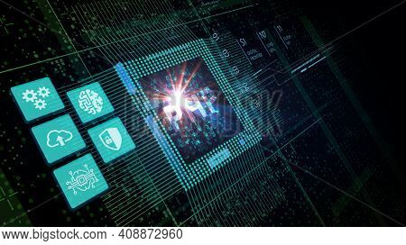 Business, Technology, Internet And Network Concept. Php Abbreviation. Modern Technology Concept.3d I