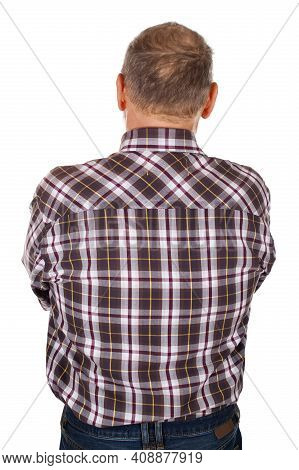 Picture Of A Man Wearing Black Shirt On Isolated Background