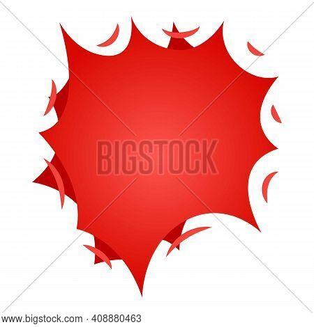 Bursting Star Icon. Isometric Illustration Of Bursting Star Vector Icon For Web