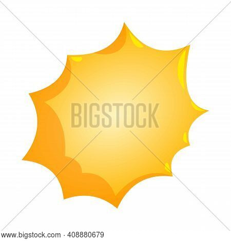Comic Bursting Icon. Isometric Illustration Of Comic Bursting Vector Icon For Web