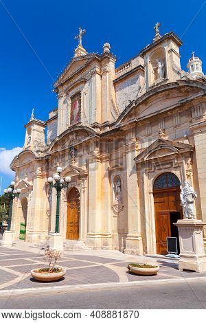 Basilica Of St Paul, Il Rabat. Roman Catholic Parish Church Located In Rabat, Malta