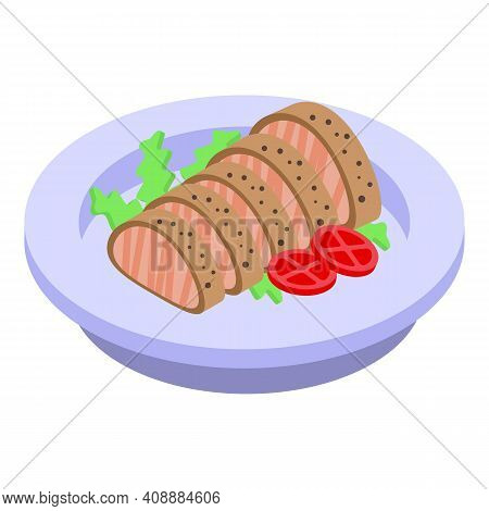 Garnish With Meat Icon. Isometric Of Garnish With Meat Vector Icon For Web Design Isolated On White