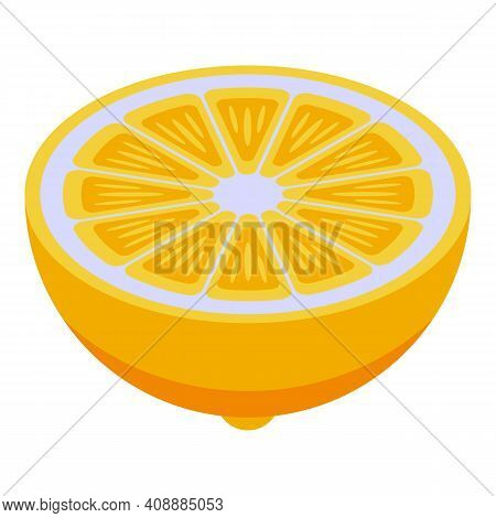 Limon Icon. Isometric Of Limon Vector Icon For Web Design Isolated On White Background