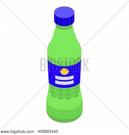 Bottle Of Soda Icon. Isometric Of Bottle Of Soda Vector Icon For Web Design Isolated On White Backgr