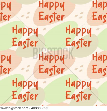 Happy Easter Holiday Decoration. Seamless Pattern, Texture, Abstract Background. Packaging Design. W