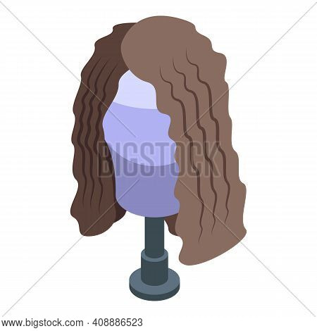 Curly Wig Icon. Isometric Of Curly Wig Vector Icon For Web Design Isolated On White Background