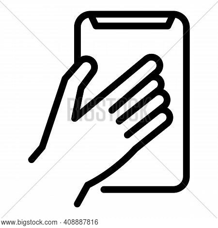 Large Smartphone Icon. Outline Large Smartphone Vector Icon For Web Design Isolated On White Backgro