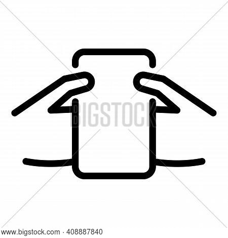 Convenient Smartphone Icon. Outline Convenient Smartphone Vector Icon For Web Design Isolated On Whi