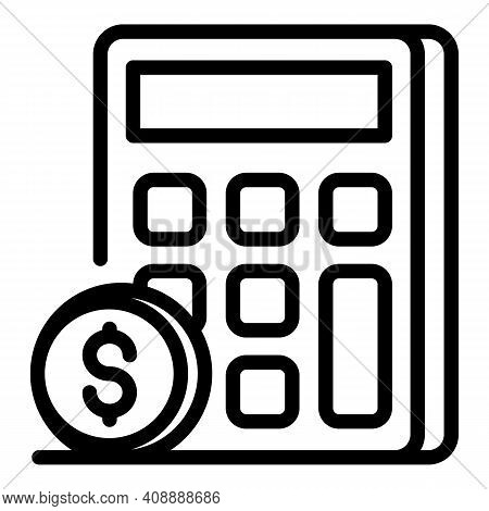 Calculation Of Money Icon. Outline Calculation Of Money Vector Icon For Web Design Isolated On White