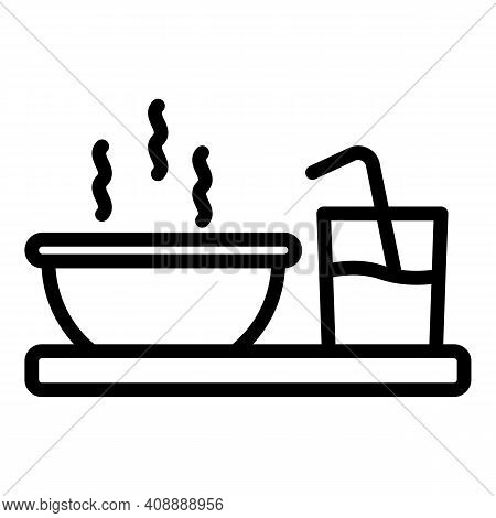 Breakfast Icon. Outline Breakfast Vector Icon For Web Design Isolated On White Background