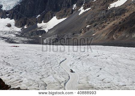 Tundra bus on Athabasca Glacier - Jasper National Park