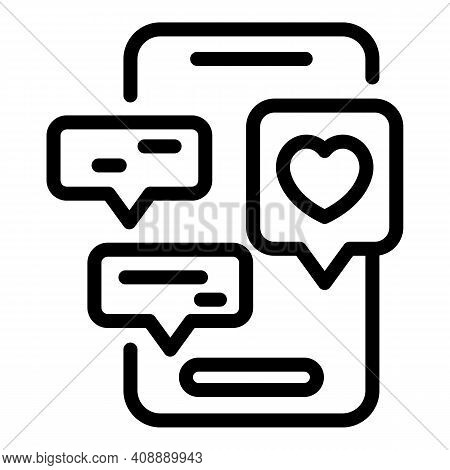 Smartphone Interaction Icon. Outline Smartphone Interaction Vector Icon For Web Design Isolated On W