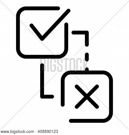 Approved Interaction Icon. Outline Approved Interaction Vector Icon For Web Design Isolated On White
