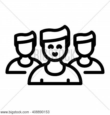 Group People Interaction Icon. Outline Group People Interaction Vector Icon For Web Design Isolated