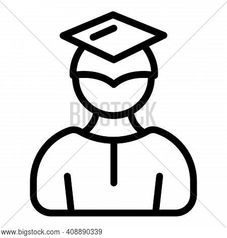 Graduation Experience Icon. Outline Graduation Experience Vector Icon For Web Design Isolated On Whi