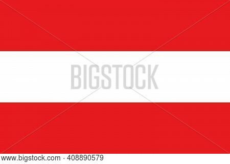 National Flag Of The European Country Austria. Austrian Flag. Austrian State Symbol. Labor Day. Day