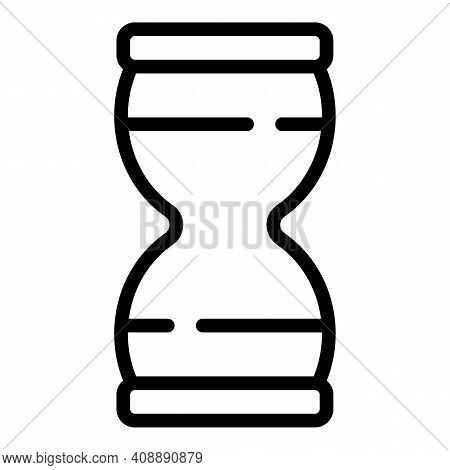 Experience Hourglass Icon. Outline Experience Hourglass Vector Icon For Web Design Isolated On White