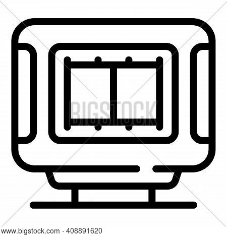 Interactive Tv Video Icon. Outline Interactive Tv Video Vector Icon For Web Design Isolated On White