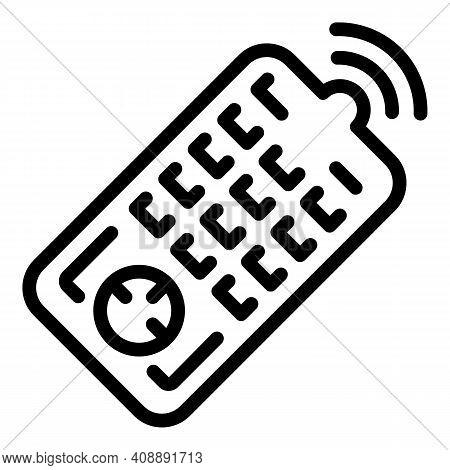 Interactive Tv Remote Control Icon. Outline Interactive Tv Remote Control Vector Icon For Web Design