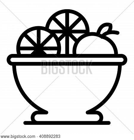 Delicious Fruit Salad Icon. Outline Delicious Fruit Salad Vector Icon For Web Design Isolated On Whi