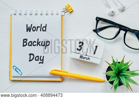 World Backup Day Of Spring Month Calendar March.