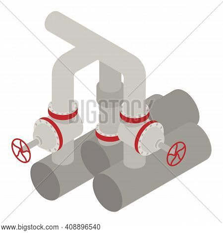 Petrol Pipe Icon. Isometric Of Petrol Pipe Vector Icon For Web Design Isolated On White Background