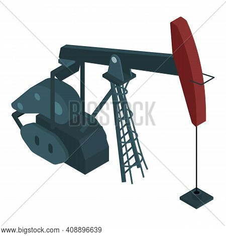 Oil Extraction Icon. Isometric Of Oil Extraction Vector Icon For Web Design Isolated On White Backgr